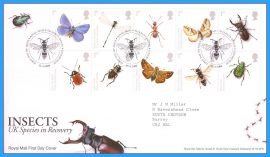 2008-04-15 Insects First Day Cover UK Species in Recovery refc72