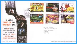 2008-06-10 Carry On and Hammer Films Stamps First Day Cover refc75