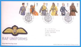 2008-09-18 RAF Uniforms Stamps First Day Cover refc78