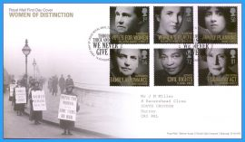 2008-10-14 Women of Distinction Stamps First Day Cover  Through Thick and Thin We Never Give In refc80