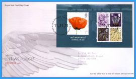 2008-11-06 Lest We Forget ARMISTICE 1918 MiniSheet Stamps First Day Cover refc81