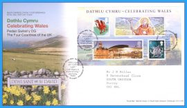 2009-02-26 Celebrating Wales Minisheet Stamps First Day Cover refc86