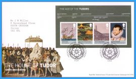 2009-04-21 The Age of the Tudors Mini Sheet Stamps First Day Cover The House of Tudor Kings and Queens refc90
