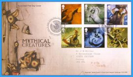 2009-06-16 Mythical Creatures Stamps First Day Cover Dragons