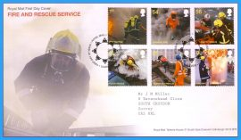 2009-09-01 Fire and Rescue Service Stamps First Day Cover refc96