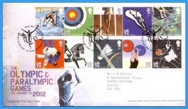 2009-10-22 Olympic & Paralympic Games Journey to 2012 Stamps First Day Cover refc99