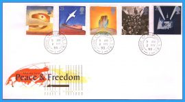 1995-05-02 Peace and Freedom Stamps FDC with House of Commons cds refcd2