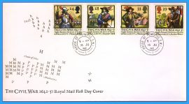 1992-06-16 Civil War England Stamps FDC