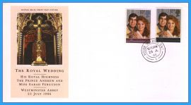 1986-07-22 Royal Wedding Stamps FDC with House of Commons cds refcd12