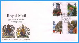 1985-07-30 350 Years of the Royal Mail Stamps FDC with House of Commons cds. Refcd14