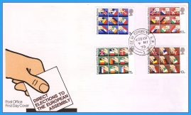 1979 House of Commons cds Elections to European Assembly Stamps FDC rcd18