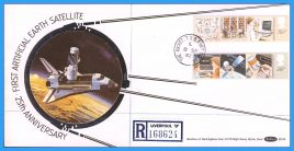 1982-09-08 Benham Silk BLS6 Information Technology Stamps Registered FDC with The Rocket Liverpool cds refcd22