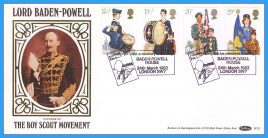 1982-03-24 Youth Organizations Stamps Scouts Baden Powell Benham silk FDC BLS2 shs Scouting for Boys refcd36