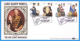 1982-03-24 Youth Organizations Stamps Scouts Baden Powell Benham silk FDC BLS2 shs Scouting for Boys refcd37