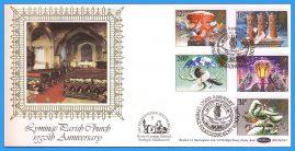 1983-11-16 Christmas Stamps FDC signed by Rev Maurice Worgan Lyminge Parish Church. Lyminge Folkstone Kent shs Benham Silk BOCS(2)23 rcd41