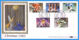 1983-11-16 Christmas Stamps FDC PEACEHAVEN NEWHAVEN E Sussex SHS Benham Silk BLS7 refcd42