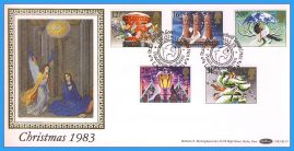 1983-11-16 Christmas Stamps FDC PEACEHAVEN NEWHAVEN E Sussex SHS Benham Silk BLS7 refcd44