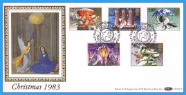 1983-11-16 Christmas Stamps FDC PEACEHAVEN NEWHAVEN E Sussex SHS Benham Silk BLS7 refcd45