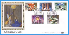 1983-11-16 Christmas Stamps FDC PEACEHAVEN NEWHAVEN E Sussex SHS Benham Silk BLS7 refcd46