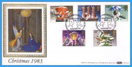 1983-11-16 Christmas Stamps FDC NASARETH SHS Benham Silk BLS7 refcd47