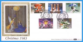 1983-11-16 Christmas Stamps FDC PEACEHAVEN NEWHAVEN E Sussex SHS Benham Silk BLS7 refcd48