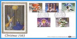 1983-11-16 Christmas Stamps FDC PEACEHAVEN NEWHAVEN E Sussex SHS Benham Silk BLS7 refcd49