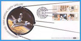 1982-09-08 Information Technology Stamps JODRELL BANK FDC Space Shuttle Satellites Benham Silk BLS6 refcd50
