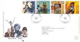 1983-01-26 Cinque Ports Angling Society 60th Annnivesary British River Fishes Stamps Benham Silk FDC Hythe shs rcd81