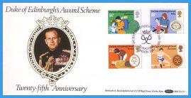 1981-08-12 Duke of Edinburgh Award Scheme 25th Anniversary Stamps Benham Silk FDC rcd91