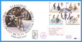 1978-08-02 Cycling Centenary Stamps First Day Cover OFFICIAL COVER Raleigh Tour de France Nottingham rcd115