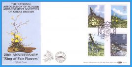 1979-03-21 British Wild Flowers Stamps OFFICIAL First Day Cover Benham BOCS 8 Carried on RMMV Scillonian rcd118