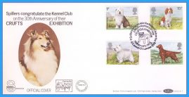 1979-02-07 CRUFTS Anniversary Dogs Stamps OFFICIAL COVER Benham First Day Cover rcd119