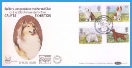 1979-02-07 CRUFTS Anniversary Dogs Stamps OFFICIAL COVER Benham First Day Cover rcd121