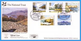1981-06-24 National Trust Stamps First Day Cover OFFICIAL COVER Derwentwater BOCS(2)4 rcd123 Unsealed with insert card. Good Condition.
