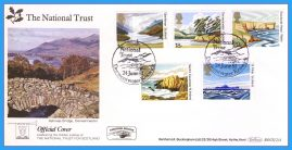 1981-06-24 National Trust Stamps First Day Cover OFFICIAL COVER Derwentwater BOCS(2)4 rcd125 Unsealed with insert card. Good Condition.
