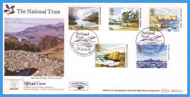 1981-06-24 National Trust Stamps First Day Cover OFFICIAL COVER Derwentwater BOCS(2)4 rcd126 Unsealed with insert card. Good Condition.