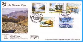1981-06-24 National Trust Stamps First Day Cover OFFICIAL COVER Derwentwater BOCS(2)4 rcd127 Unsealed with insert card. Good Condition.