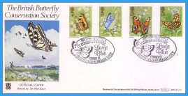 1981-05-13 Butterflies Stamps First Day Cover OFFICIAL COVER Benham BOCS(2)3 rcd130