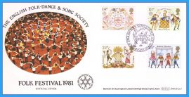 1981 Folk Festival Song & Dance Official Cover Folklore Stamps FDC Benham BOCS(2)1 rcd134