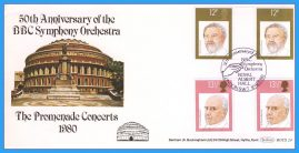 1980-09-10 Musicians British Conductors Stamps FDC BBC Symphony Orchestra BOCS 24 rcd137