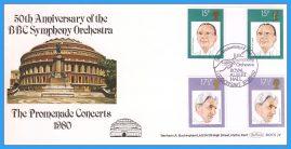 1980-09-10 Musicians British Conductors Stamps FDC BBC Symphony Orchestra BOCS 24 rcd138