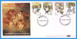 1979-07-11 Year of the Child Stamps FDC NSPCC Bethlehem cds BOCS(SP)1 rcd139