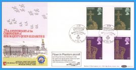 1978-05-31 Coronation 25th Anniversary Gutter Pair Stamps OFFICIAL FDC FLOWN BFPO 1953 rcd140