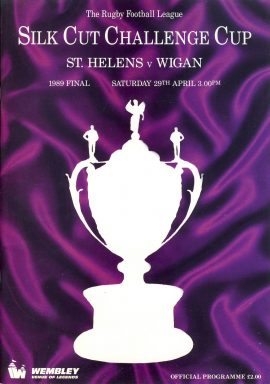 1989 Silk Cut Challenge Cup Final Wembley programme in good used condition. Please read full description.  ref092
