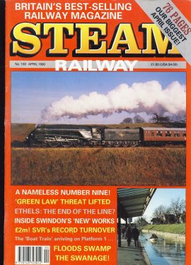 Steam Railway vintage magazine in good read condition.  Wear on cover. Name written on back cover. R219