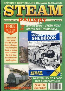 Steam Railway vintage magazine and Locospotting Shedbook in good read condition. Wear on cover and mark where Shedbook was attached. Name written on back cover. R246