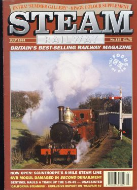 Steam Railway vintage magazine in good read condition. Light wear on cover. Name written on back cover. R240