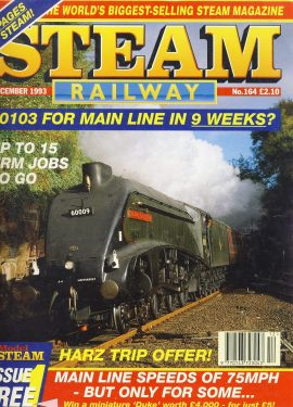 Steam Railway vintage magazine in good read condition. Wear on cover. Some reading creases. Name written on back cover. R211