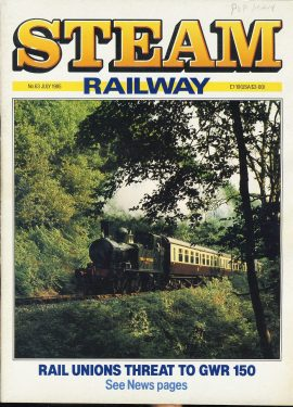 Steam Railway vintage magazine in good read condition. Light wear on cover. Name written on cover. R208