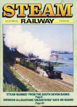 Steam Railway vintage magazine in good read condition. Light wear on cover. Name written. Crease on back cover. R217